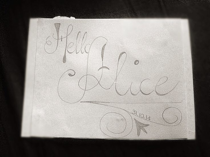 Lettering a greeting Card #newborn #baby #girl #hello #alice