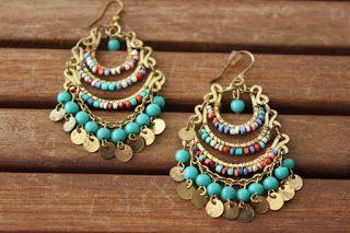 Aventurine, diseño de joyas: Pendientes de colores.