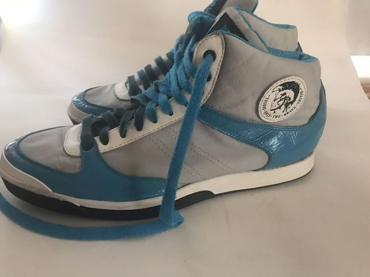 DIESEL ONLY THE BRAVE SILVER BLUE HIGH SNEAKERS   | eBay