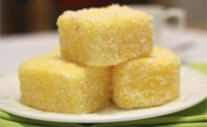 Lemon Lamingtons - Australian recipe to celebrate 10 years home from the mission.
