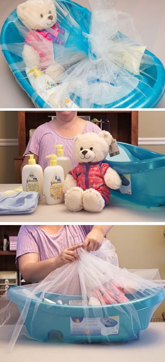 Bath Time | DIY Baby Shower Gift Basket Ideas for Boys