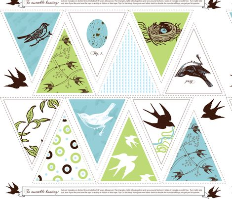 Dreaming of Spring Bunting fabric by jenimp on Spoonflower - custom fabric