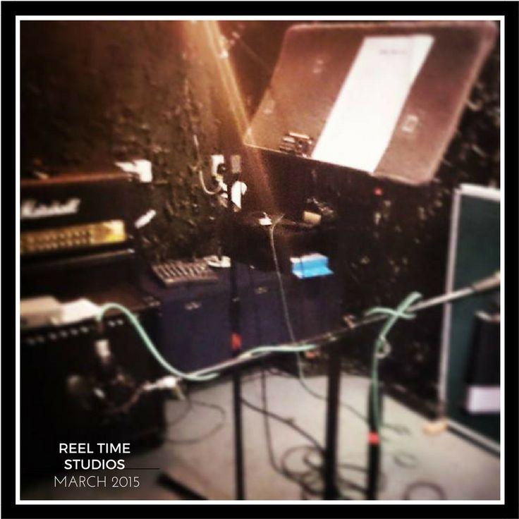 Recording in the studio in 2015. #studio #music #bands #cardiff #musicians