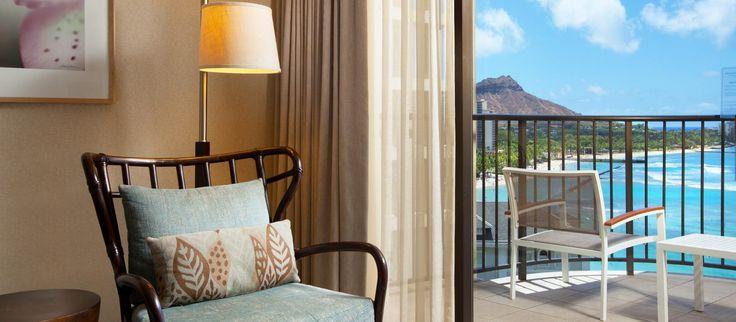 Premier Ocean Suite på Moana Surfrider hotel, Hawaii