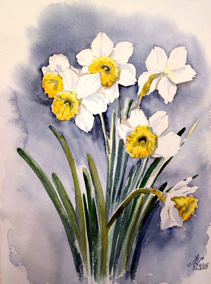 можно тюльпаны и нарциссы рисунки еще