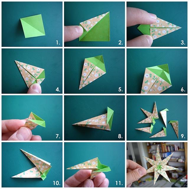 DIY                                                              paper origami star
