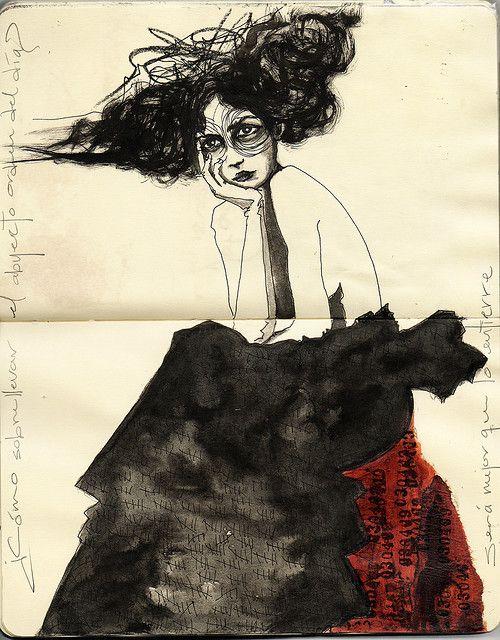...drawings in sketchbooks...i miss that! Artwork by Entierro, Erika Kuhn