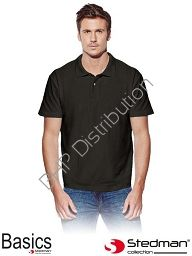 Czarna męska koszulka polo STEDMAN ST3000_BLO