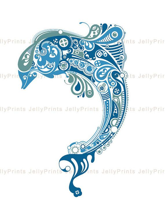 Dolphin+Art+Print+5x7+8x1011x1413x19+please+select+by+JellyPrints,+$12.00
