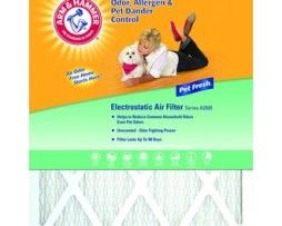 Arm and Hammer AF-AH1020 20 Inches x 10 Inches x 1 Inch Pet Fresh Pet Protection Air Filter  Product Description Arm and Hammer AF-AH1020 Pet Fresh pet protection air filter is the ultimate affordable combination of air quality enhancement and odor protection. This 20 inches x 10 inches x 1 inch filter is constructed of pleated material with an electrostatic charge and designed for high capacity filtration.