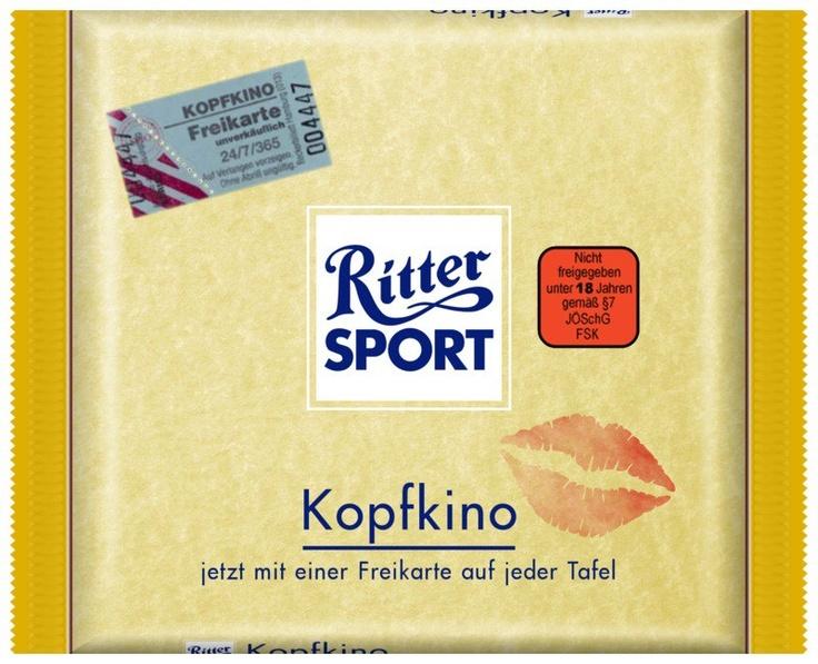RITTER SPORT Fake Schokolade Kopfkino
