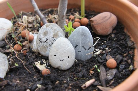 Trop chou pour habiter les pots de fleurs... ♥