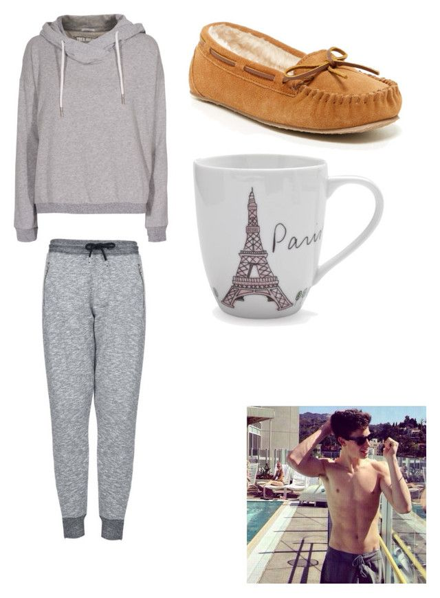 """Cuddling with Shawn mendes"" by leila-hussain ❤ liked on Polyvore featuring True Religion, Topshop, Minnetonka and Sur La Table"