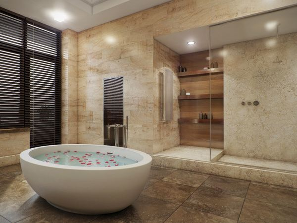 Baños Con Jacuzzi De Lujo:Pin by anna sokol on Inspirations – 3D Rendering – Interiors