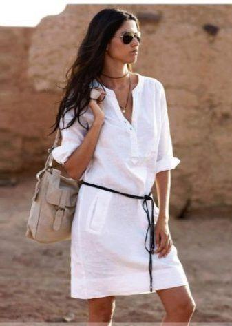 Летние платья из льна 2017 (57 фото): модные фасоны