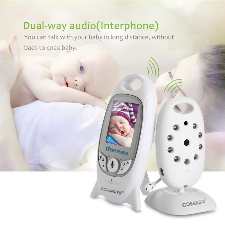 COSANSYS® 2.4GHz Wireless Digital LCD Color Baby Monitor Camera Audio Video Night Vision And Night Light Lullaby