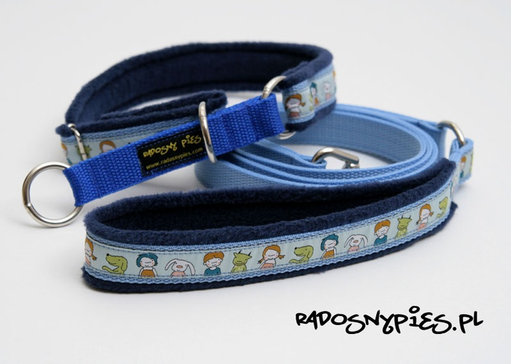 Polar handmade dog collar and leash