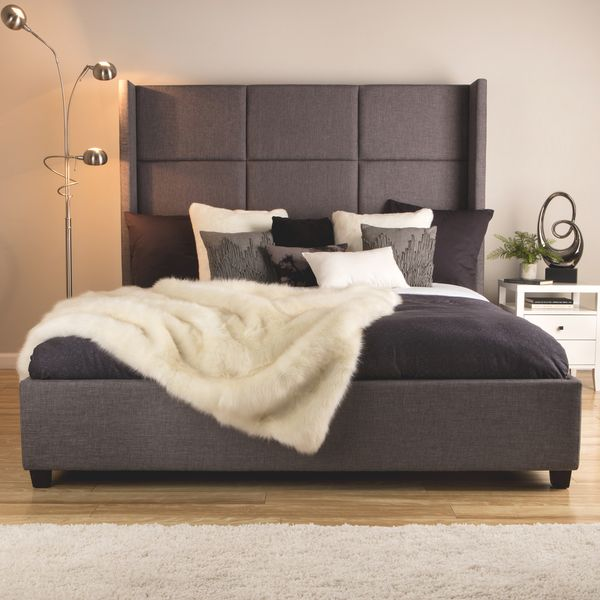 A Balanced Blend Of Pine, Rubber Wood And MDF Elements Makes This King  Platform Bed Strong And Firm