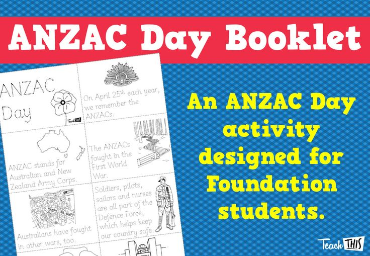 ANZAC Day - Lower Primary Booklet