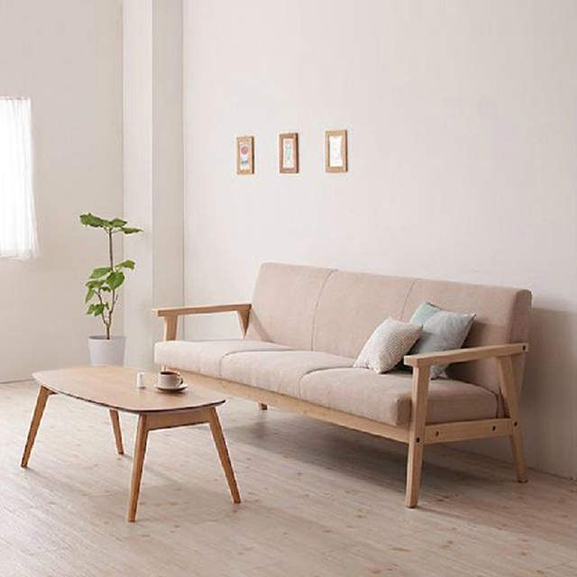 Online Shop Simple Detachable Small Sofa Small Single Solid Wood Sofa Combination Furniture Al Minimalist Sofa Japanese Living Rooms Small Living Room Decor