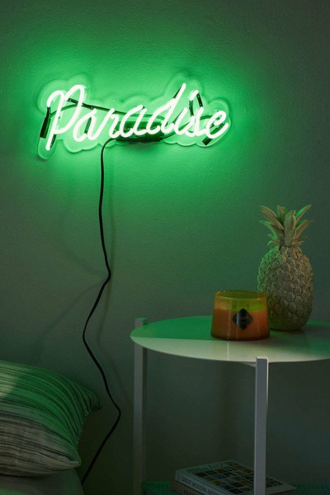Ideias de decoração: placas de neon                              …