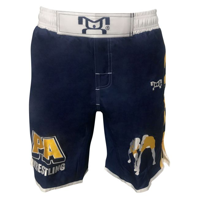 MyHOUSE PA Wrestling shorts with yellow Sublimated Side Panels is a comfortable fight shorts for champion wrestler. MyHOUSE is the leading seller of custom #wrestling  gear in the USA.