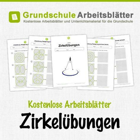 Kostenlose Arbeitsblätter und Unterrichtsmaterial zum Thema Zirkelübungen im Mathe-Unterricht in der Grundschule.