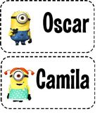 Locker Tags - Minion