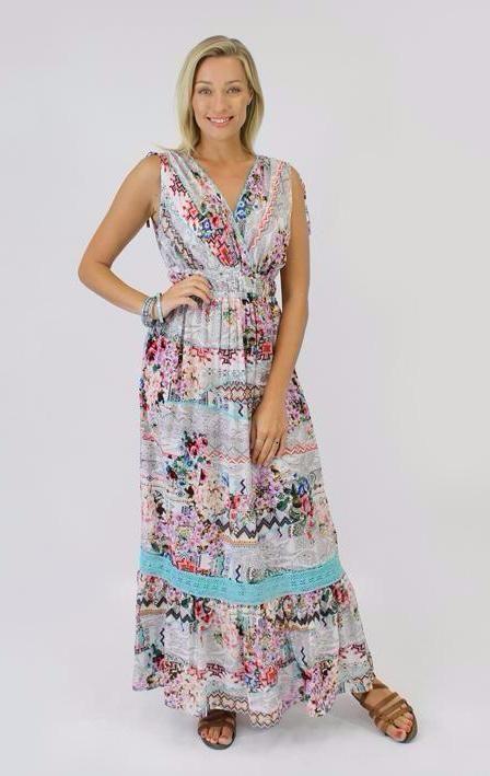 Jendi - 12-398 Floral Maxi Dress