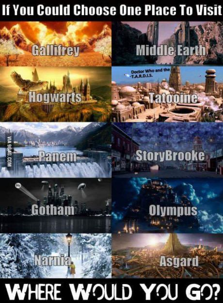 Choose one place to visit