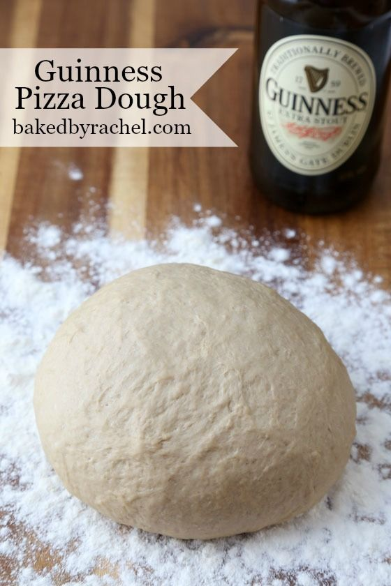 Easy and flavorful homemade Guinness pizza dough recipe