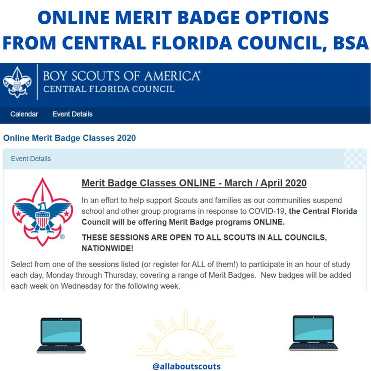 Online merit badge options from cfl scouting merit badge