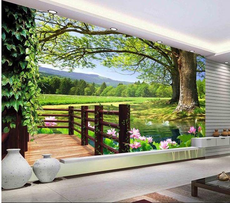 Aliexpress.com: Comprar Pared moderna murales del papel pintado 3d ...