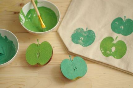 Stempelen met een appel: hoe maak je eigenlijk de kleur groen?