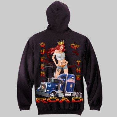 Queen Of The Road Pull-Over Hoodie $A70.00 Sizes: S-3XL Printed Front & Back http://www.wildsteel.com.au/queen-of-the-road-hoodie/