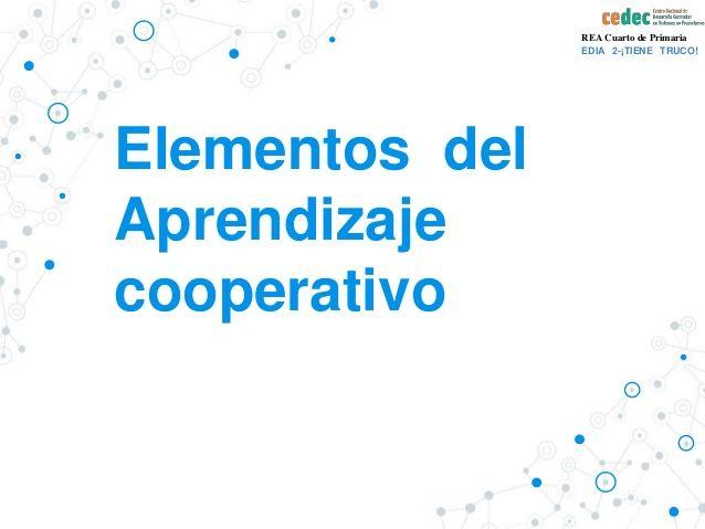 Qué es el aprendizaje cooperativo - Presentación de Canal de CeDeC - Fuente Slideshare - Presentación con notas.