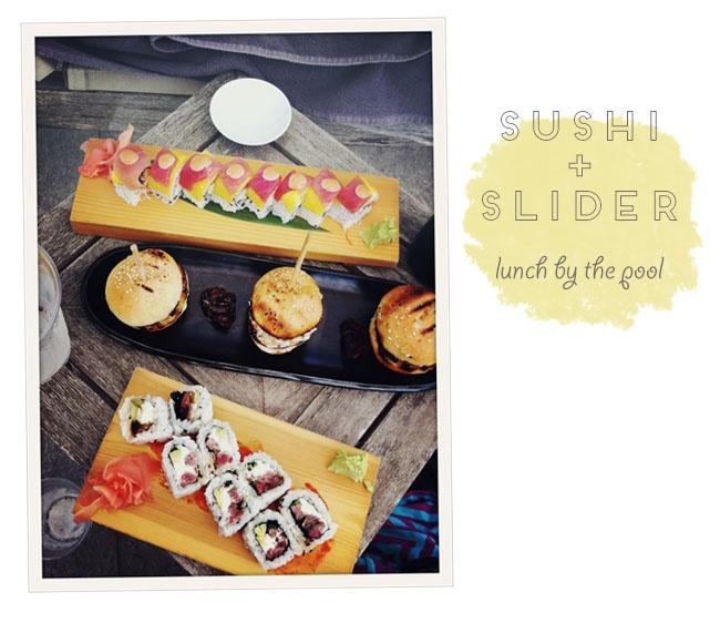 Sushi & slider menu!