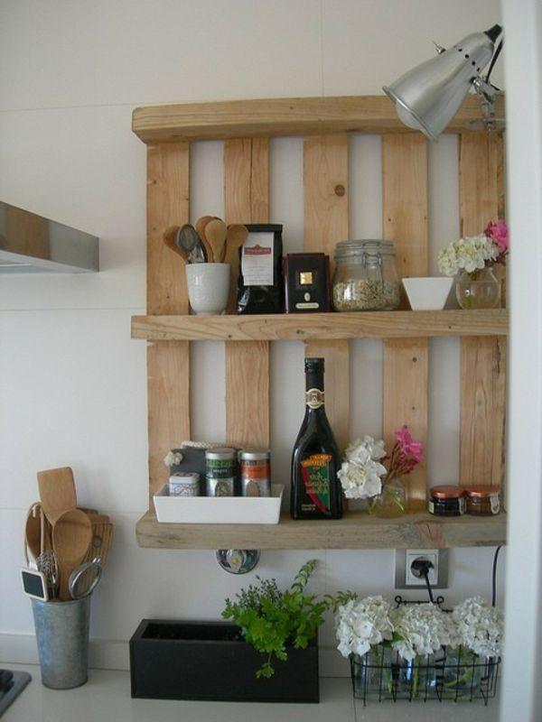 DIY Möbel aus Europaletten – 101 Bastelideen für Holzpaletten - holz paletten möbel selbst basteln DIY ideen küche
