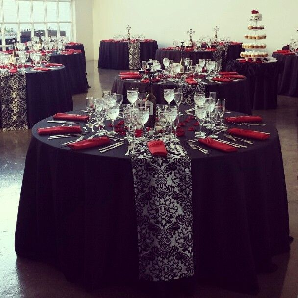 Wedding Table Setting at Prairie Productions #Chicago & 311 best Red White And Black Table Settings images on Pinterest ...