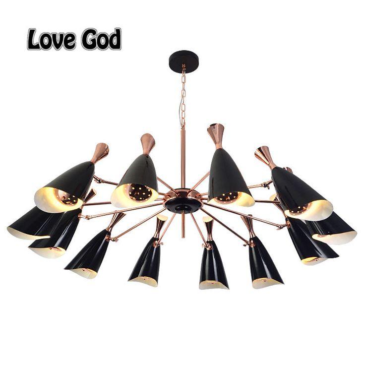 Inspirational Post Modern Villa Pendant Lights Black White Lampshade Gold Bar E uG Base Led Lamp Indoor