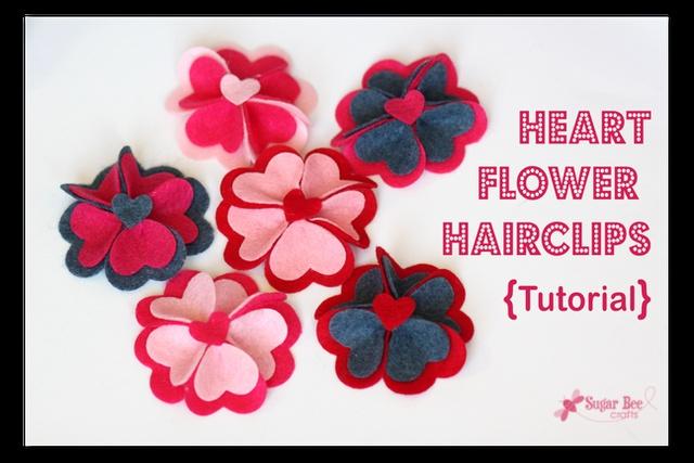 Heart Flower Hairclips tutorial