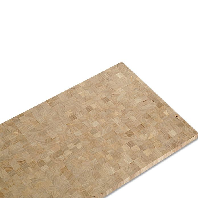 Massivholzplatte  (Hevea, 150 cm x 65 cm x 4 cm)
