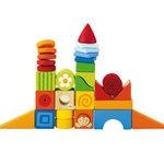 Phantasie Würfel Bausteine-Set aus Vollholz von Sevi, Geschenk für Einjährige