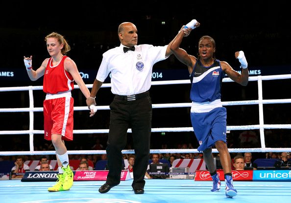 Nicola Adams (R) of England celebrates winning the gold medal against Michaela Walsh of Northern Ireland in the Women's Fly (48 - 51kg) Final at SSE Hydro during day ten of the Glasgow 2014 Commonwealth Games on August 2, 2014. Was this the right decision?