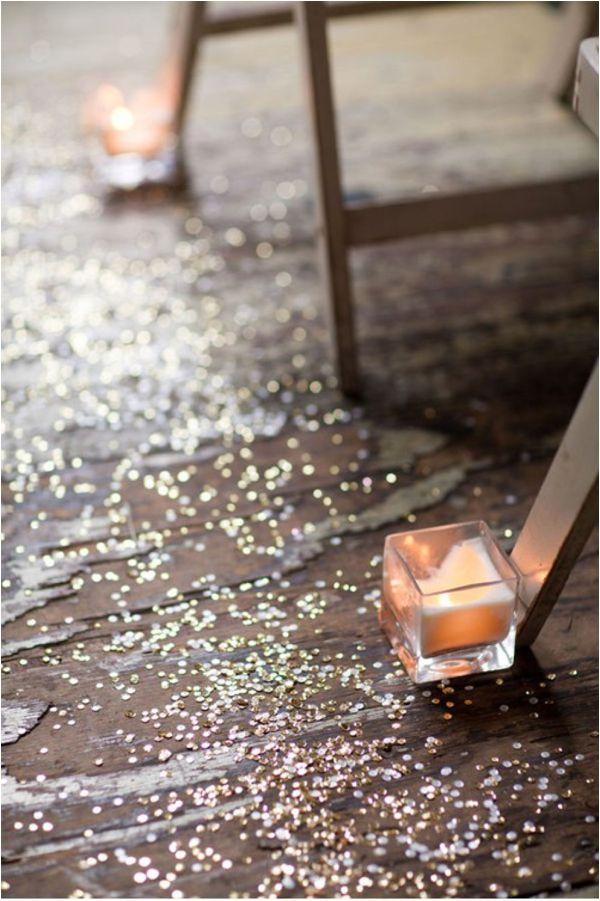 sparkles down the aisle