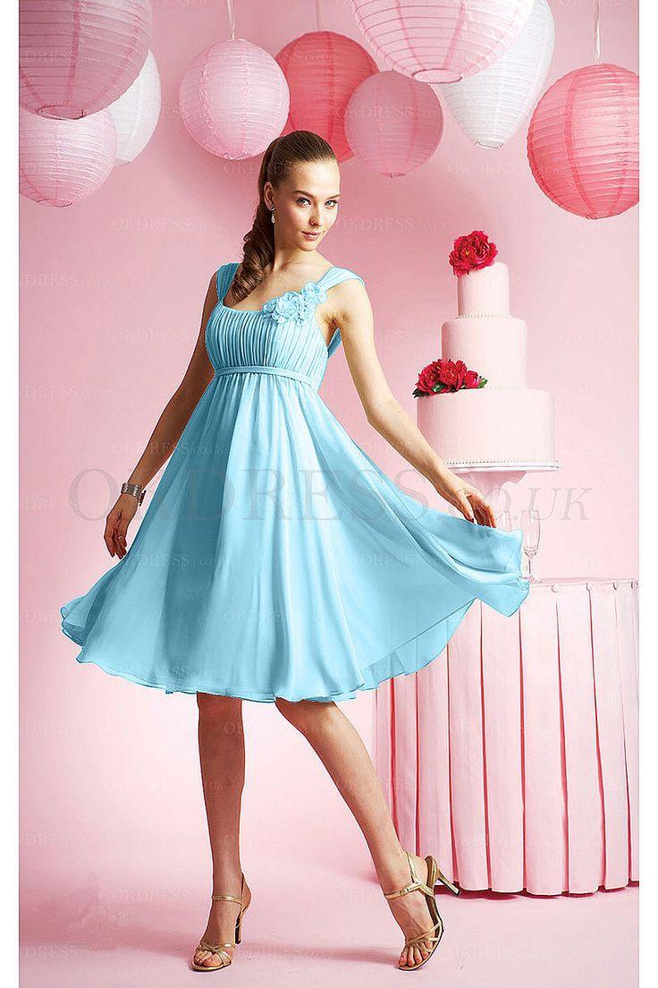 Nice Straps Sash A-Line Knee-Length Bridesmaid Dresses - by OKDress UK