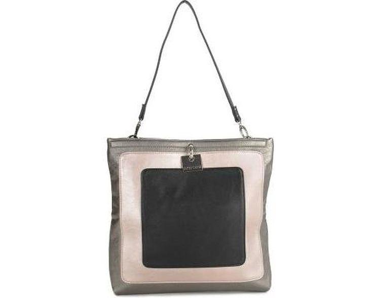 Kenneth Cole Reaction Fold Digger Colorblock Shoulder Bag, Delft Blue/Chalk/Black, One Size