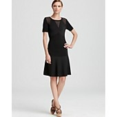 Moschino Cheap and Chic Dress - Knit with Net Accents    Perfect for work,Church or meeting in-laws. Priced at $834 this is an investment.
