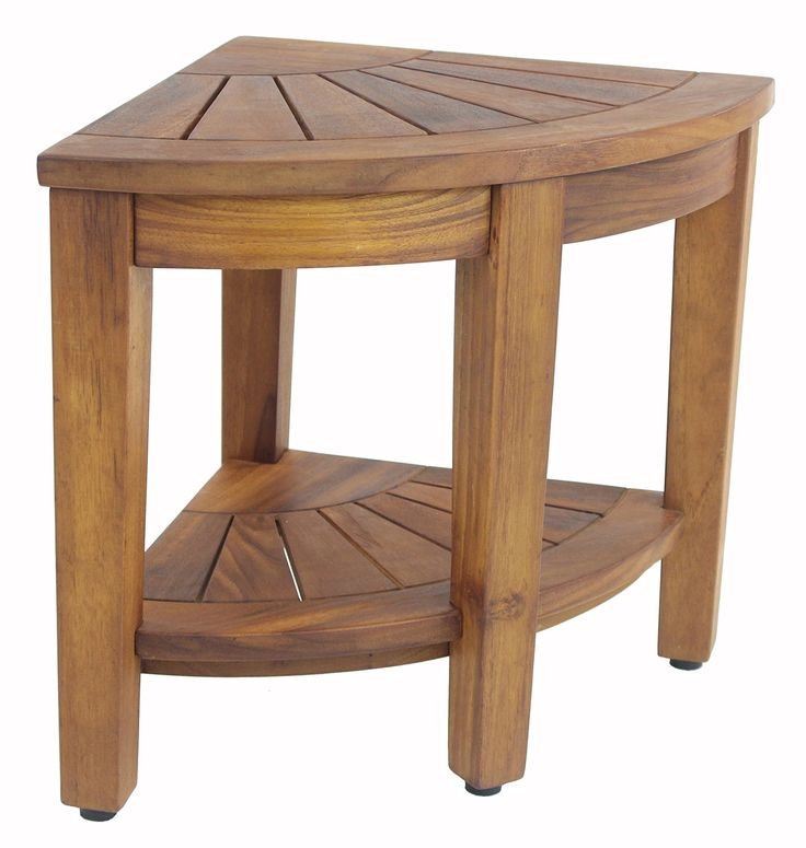 155 teak shower bench with shelf from the