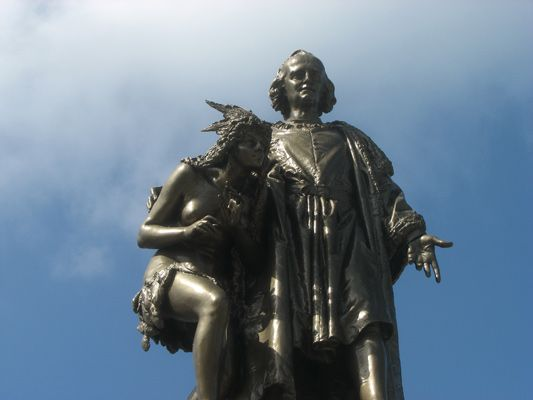 Christopher Columbus statue in Colon, Panama